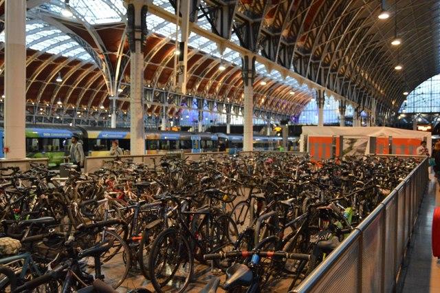 Bike park, Paddington Station