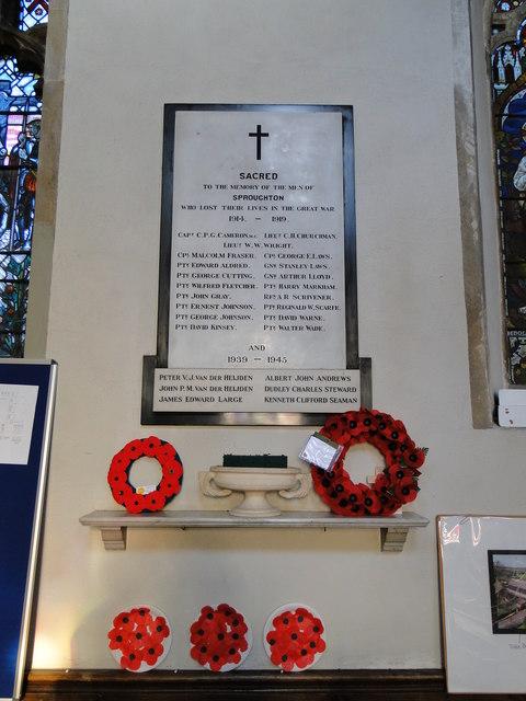 Sproughton War Memorial