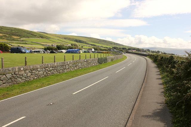 The Wales Coast Path at Llwynwccws Farm