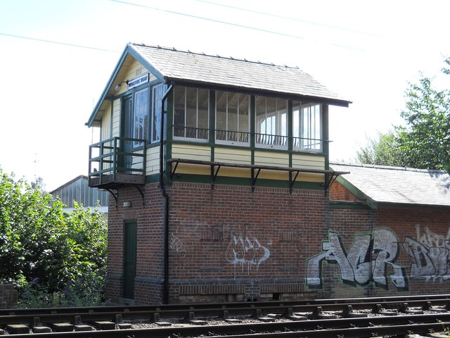 Woodstone Wharf signal box on the Nene Valley Railway