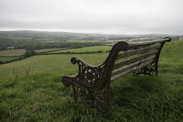 Bench on Pins Knoll, near Litton Cheney