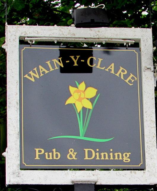 Wain-y-Clare name sign near Pontypool