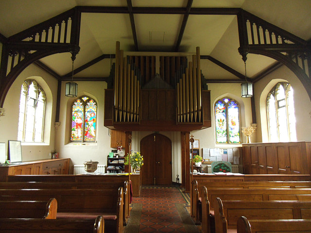 St Peter's Stainforth - interior, looking west