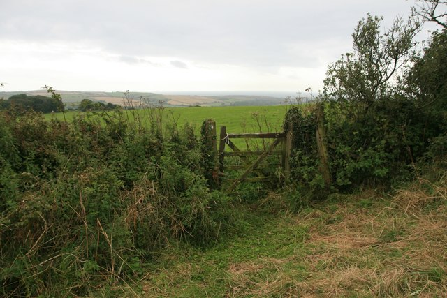 Gate on southern flanks of Chilcombe Hill