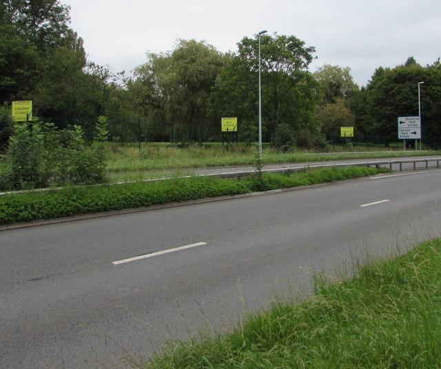 Usk Road near Mamhilad Park Estate and Uskvale Park Estate