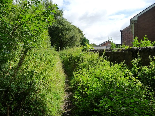 Footpath on the former Pinxton Arm of the Cromford Canal