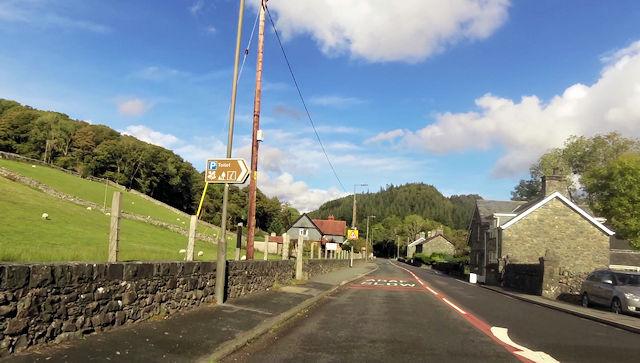 Ganllwyd Village looking north