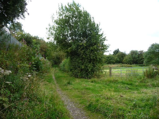 Path heading south to Pye Bridge's Main Road