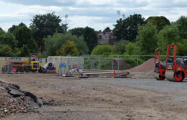 Construction on the former St Mary's Allotments