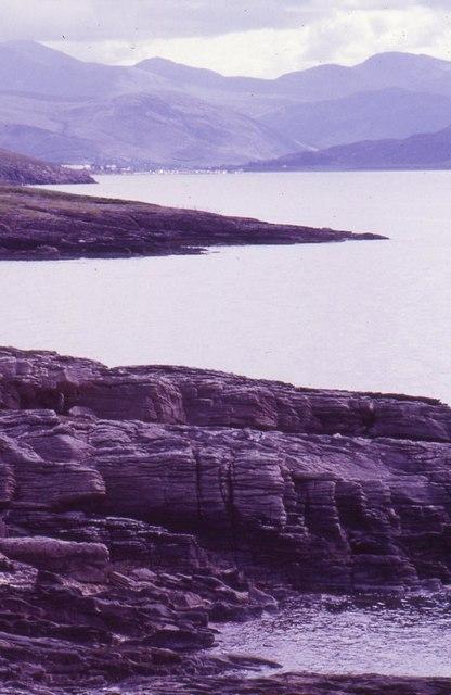 Rocky shore near Rhue