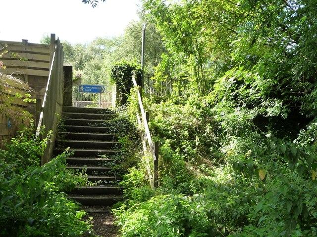 Steps up to the Main Road, Pye Bridge