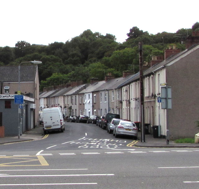 One-way part of Goodrich Crescent, Newport