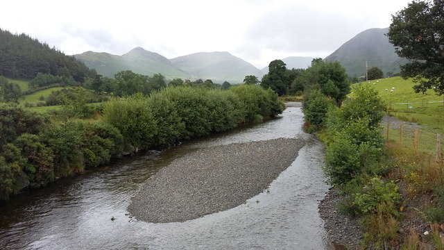 Newlands Beck from Little Braithwaite Bridge