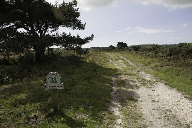 Entering National Trust property at Godlingston Heath