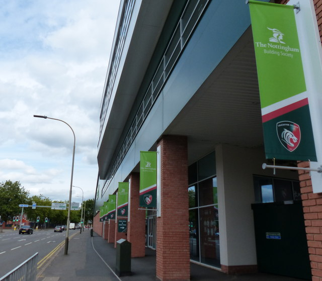 Robin Hood Stand at the Leicester Tigers rugby union stadium