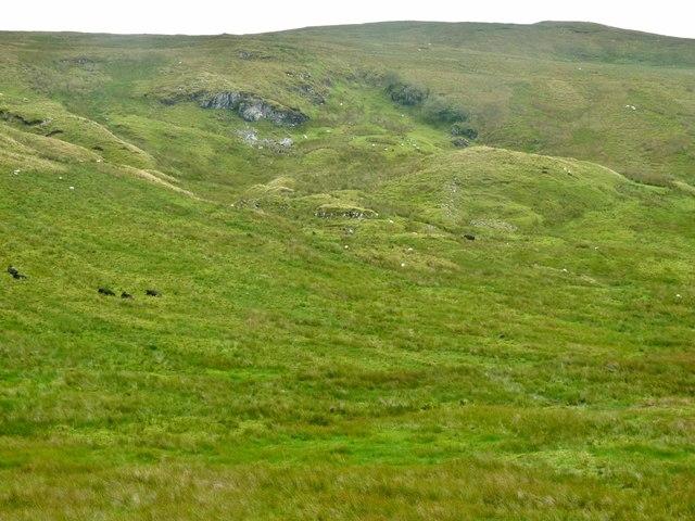 Thieves Craig below North Burnt Hill