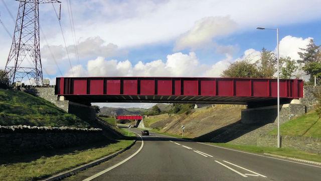 Bridges over Porthmadog bypass