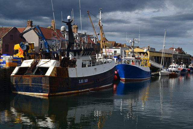 Fishing boats in Eyemouth Harbour