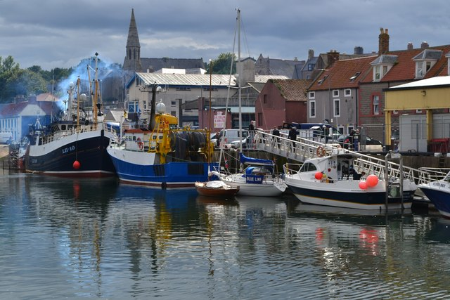 Eyemouth Harbour scene