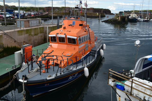 Lifeboat in Eyemouth Harbour