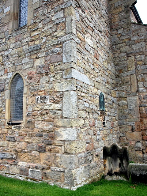 Whittingham church: corner of the tower