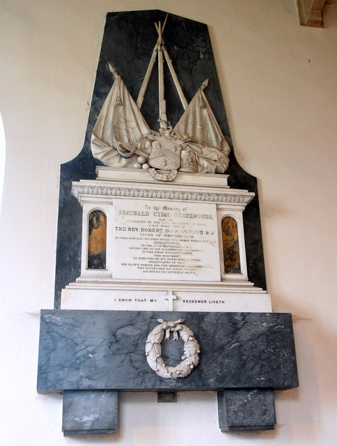 Goodenough monument, Whittingham church