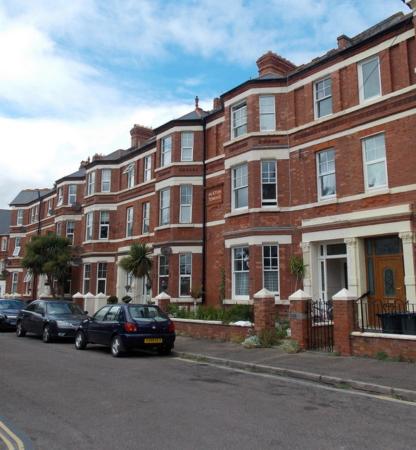 Three-storey houses, Alston Terrace, Exmouth