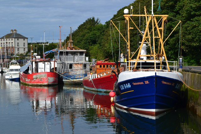 Boats in Eyemouth Harbour