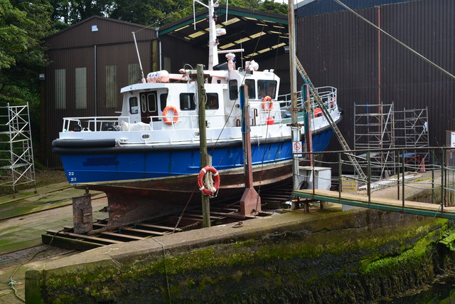 Boat on the slipway at Eyemouth