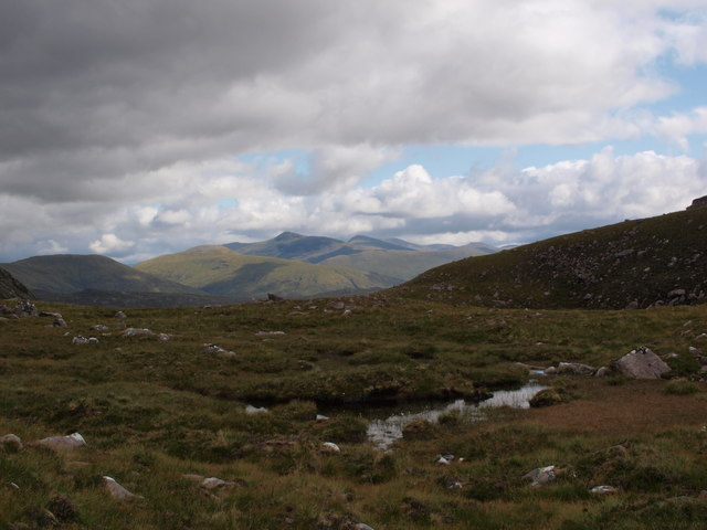 Col between Sgurr Dubh and Meall Each