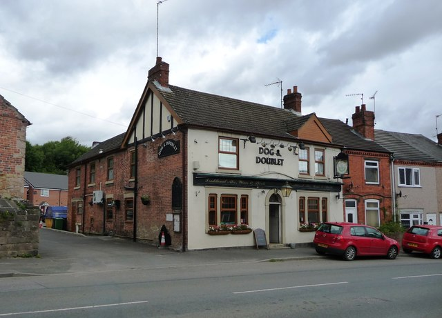 The Dog and Doublet pub, Pye Bridge