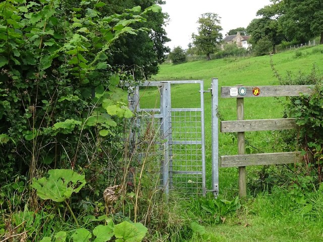 Kissing gate on the Ecclesbourne Way