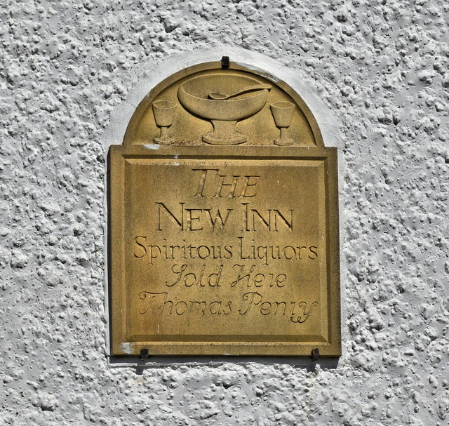 Inn sign, The New Inn, Longtown