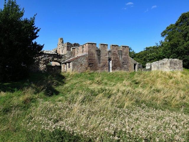 Buildings at south entrance, Norham Castle