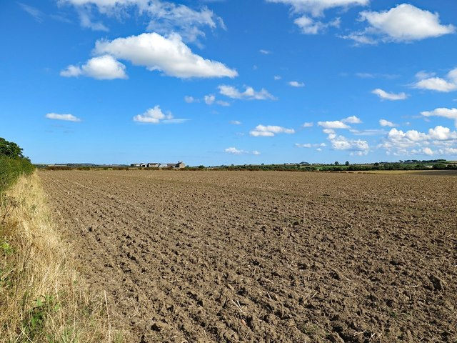 Ploughed field west of Emerick Farm