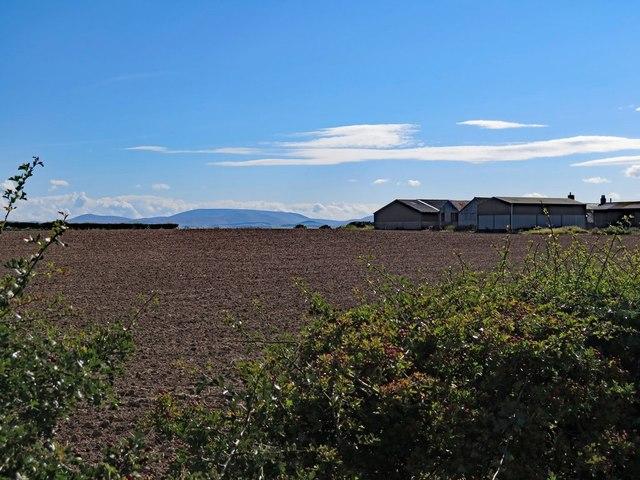 Ploughed land near Emerick Farm