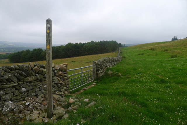 The Southern Upland Way heading south-west from Galashiels
