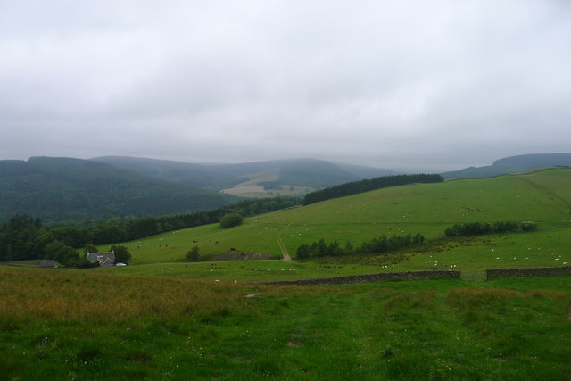 The Southern Upland Way dropping down to the Tweed valley