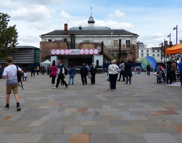 New Market Square in Leicester