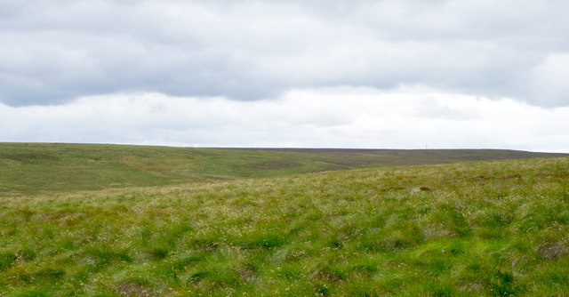 Moorland south-west from Hunder Hill