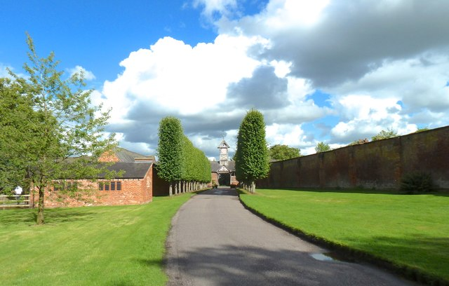 Approaching Arley Hall