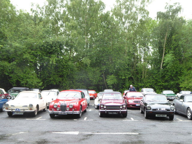 Classic cars in the car park at Helmsley