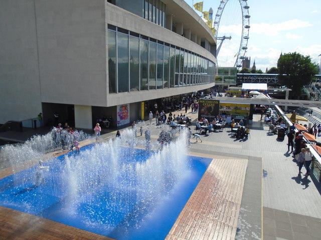 Fountains near Royal Festival Hall