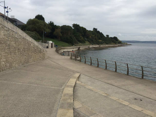 Jubilee Walk towards Nothe Gardens, above Newton's Cove, Weymouth