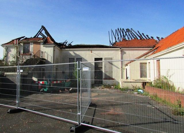 Fire damage to Denbeath Club, Methil