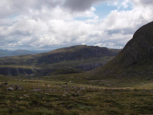 Looking down Coire na Sleaghaich