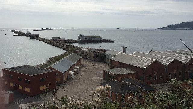 Works near Bincleaves Groyne, Portland Harbour, Weymouth