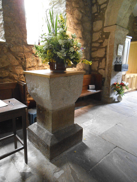 St  Mary, Conistone - font