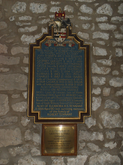 St  Mary, Conistone - Tennant memorial