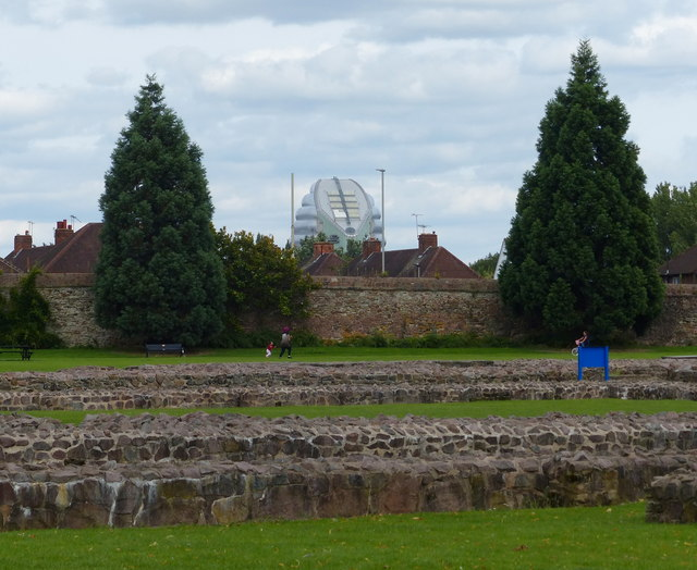 The ruins of Leicester Abbey at Abbey Park